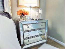 Bedroom:Fabulous White Glass Bedside Drawers Extra Tall Nightstands  Mirrored Dresser Cheap 2 Drawer Mirrored