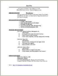 Housekeeping Resume Adorable Housekeeper Resumeexamplessamples Free Edit With Word