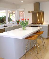 Kitchens White Kitchen Decor With Stainless Steel Backsplash And Classy Stainless Steel Table With Backsplash Minimalist