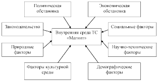 Курсовая Анализ формирования ассортимента товаров и его   оказывающие прямое влияние на деятельность фирмы Вешняя среда представляет собой совокупность факторов в число которых входят экономические