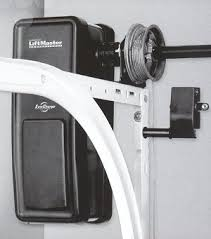 this type of garage door opener is also known as a wall mount garage door opener as the device is mounted on the wall to the right or left of the garage
