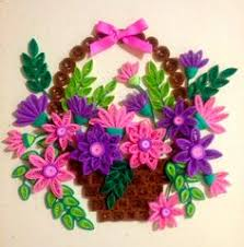 Paper Quilling Flower Baskets 56 Best Quilled Baskets Images Papercraft Quilling Quilling Flowers