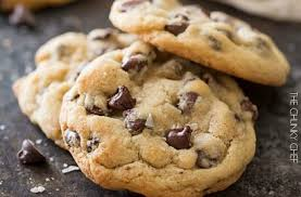 Salted Chocolate Chip Cookies The Chunky Chef