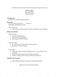 Help Making A Resume 100 Example of student resume with no work experience efficient 79