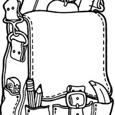 Small Picture Education School Backpack Coloring Pages Education School