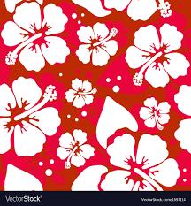 Hawaiian Pattern Inspiration Seamless Pattern With Hawaiian Hibiscus Flower Vector Image