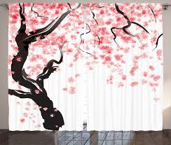 Small Picture Japanese Decor Curtains 2 Panels Set Cherry Blossom Home Decor eBay