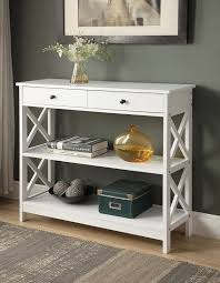 entryway table with drawers. photo 1 of 5 entryway tables with drawers #1 white finish 3-tier console sofa entry table. table o
