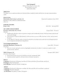Resume For Highschool Students With Little Experience Example