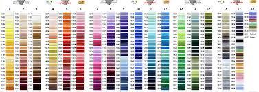 Meticulous Pantone Thread Color Chart Pantone To Madeira