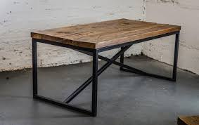 industrial dining table. X Box Frame Industrial Dining Table L