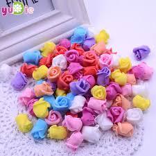 50PCS / Lot <b>1.5 cm</b> Multicolor PE rose foam <b>mini artificial silk</b> solid ...