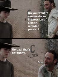 retarded rick | The Walking Dead | Know Your Meme via Relatably.com