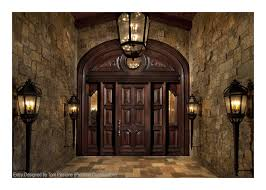 custom a custom wood doors mahogany heavy distress arched transom sidelight