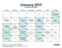 january beginner workout calendar