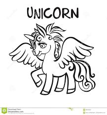 Unicorn Illustrazione Di Vettore Pagine Del Libro Da Colorare Per