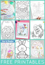 Coloring pages are all the rage these days. Free Easter Coloring Pages Happiness Is Homemade