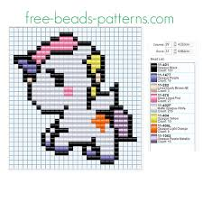 Cute Perler Bead Patterns Enchanting Colored Cute Unicorn Free Perler Beads Fusion Beads Pattern For