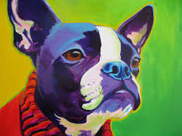 boston painting boston terrier ridley by alicia vannoy call