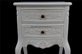 cau french style white painted bedside cabinet or lamp table 2 drawers