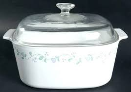 corning country cottage 5 quart square casserole with glass lid serving bowls lids