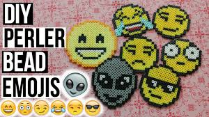 Emoji Perler Bead Patterns Simple DIY PERLER BEAD EMOJIS CryingLaughing Face Alien Head More