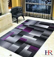 purple grey silver black abstract area rug modern contemporary geometric cube and gray