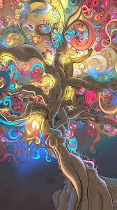 Psychedelic Trippy Cartoon Wallpaper