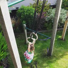 olympic rings on pull up bars outdoor garden swing