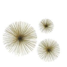 three hands assorted metal gold star bursts wall art set of 3 for best and on gold stars wall art with image gallery of gold metal wall art view 6 of 20 photos