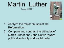Martin Luther Vs John Calvin Venn Diagram Martin Luther Pages Analyze The Major Causes Of The