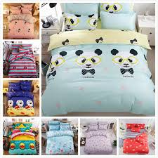 2019 panda pattern quilt duvet cover 3 bedding set kids soft bed linen single twin full double queen king size bedspreads from fair2016