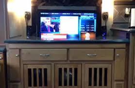 hide tv furniture. Custom Hidden TV Cabinet With Dog Kennels Hide Tv Furniture H