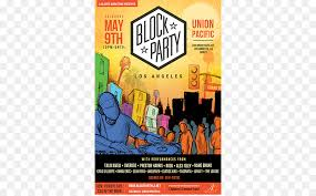 Party Flyer Adorable Block Party Poster Flyer Los Angeles Party Png Download 4444