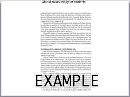 Globalization essay for students