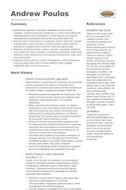Communications Resume Template 10640 Acmtyc Org