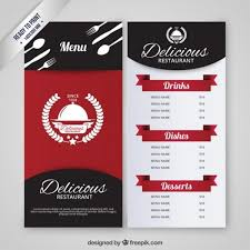 Restaurant Menu Design Templates Restaurant Menu Template Vector Free Download Intended For