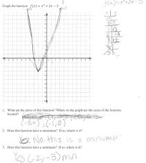 graphing quadratic functions in vertex form worksheet the best worksheets image collection and share worksheets