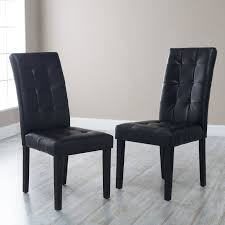 martha bonded leather parsons dining chair set of 2 black martha prs
