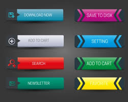 Button Design Horizontal Website Buttons Design With Classical Style