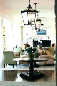 glass lantern chandelier foyer large