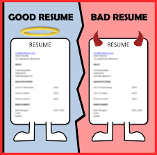 Bad Resume Examples Good Resume Format
