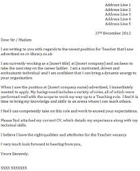 Sample Cover Letter For Teaching Po  sample resume format