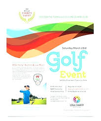 Free Brochure Template For Word Beauteous Free Golf Templates For Word Event Flyer Template Download In