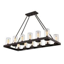 12 light english bronze outdoor hanging chandelier with brown glass shade