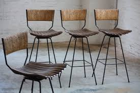 Image of: Contemporary Swivel Bar Stools with Back Wood
