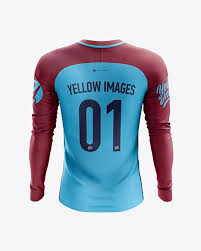 Set of colored shirt mockup in front view and back view for baseball, soccer, football , sportswear or casual wear. Men S Soccer Team Jersey Ls Mockup Back View In Apparel Mockups On Yellow Images Object Mockups Design Mockup Free Clothing Mockup Team Jersey