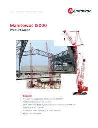 Manitowoc 2250 Load Chart 18000 Max Er Manitowoc Cranes Pdf Catalogs Technical