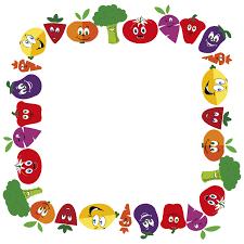 fruits and vegetables clip art. Perfect Art Anthropomorphic Fruits And Vegetables Frame 2 Large In Clip Art N