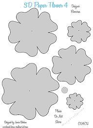 Flowers Templates 3d Paper Flower Templates 4 Cu4cu
